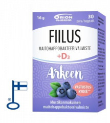 FIILUS ARKEEN + D3 MUSTIKKA 30 PURUTABL