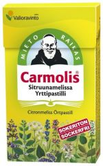 CARMOLIS YRTTIPASTILLI SITRUUNAMELISSA  45 G